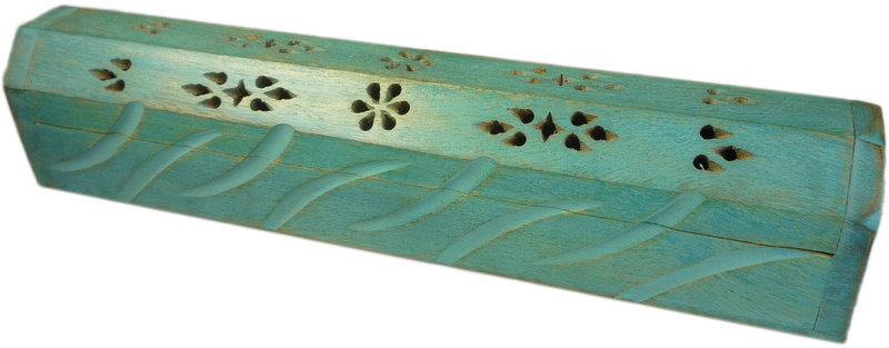 Blue Wooden Incense Burn Box