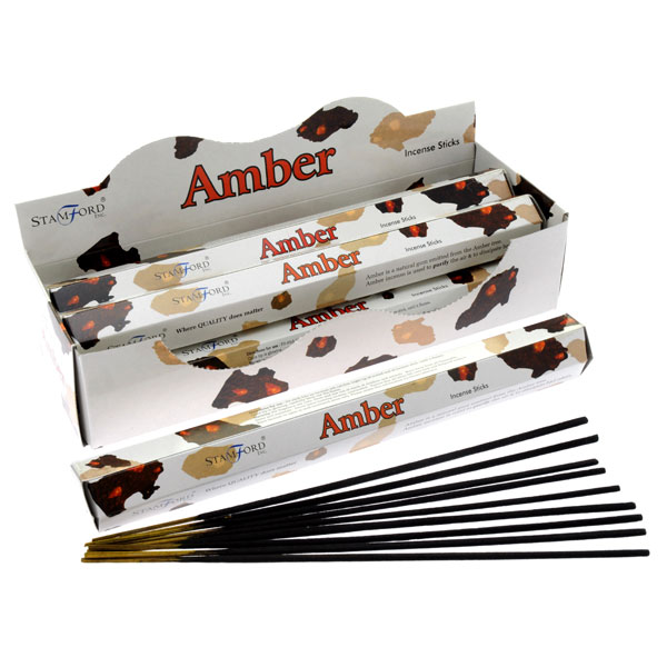Box of 20 Amber Incense Sticks