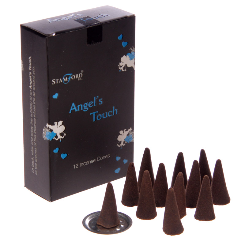 Stamford Black Incense Cones - Angels Touch