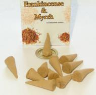Box of 15 Frankincense and Myrrh Incense Cones
