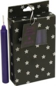 Pack of 12 Small Spell Candles - Purple
