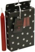 Pack of 12 Small Spell Candles - Red