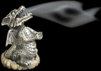 Smoking Dragon Cone Burner - Silver